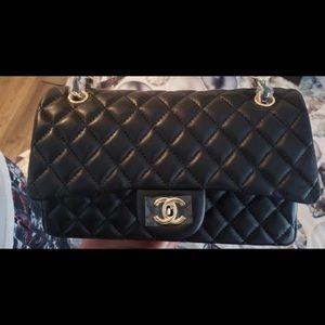 Chanel timeless classic caviar double flap black
